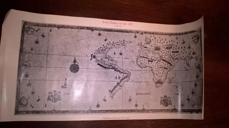 lamina carta nautica del 1527-salviati .reprod. carlos sanz