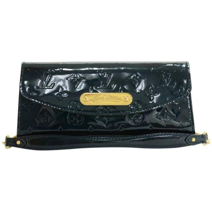 Louis Vuitton Sunset Boulevard Dark Green Vernis Leather Evening Bag
