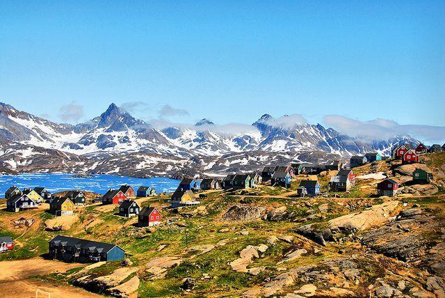 El pueblo de Tasiilaq en Groenlandia Lo mas cerca del frió y del polo ártico.