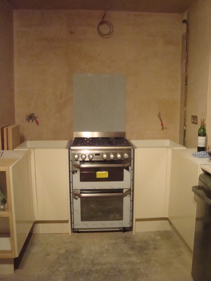 Partially installed cooker