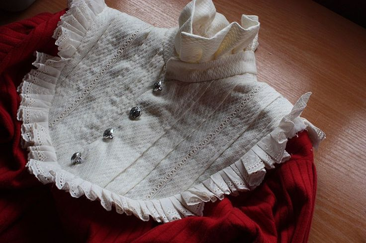 Cutsew Tutorial with Ruffled Bib. This is a very nice tutorial, but I do admit the finished outcome is a bit overdone. I think it could be toned down a bit.