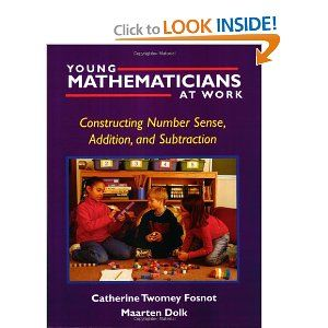 36 best books for math teachers images on pinterest teaching ideas young mathematicians at work constructing number sense addition and subtraction fandeluxe Choice Image