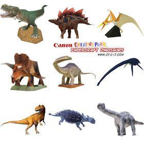 Ninjatoes' papercraft weblog: Canon Creative Park papercraft dinosaurs