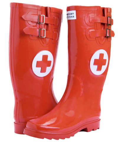 OMG I love these if you are a Red Cross volunteer or work in Disaster Relief. Classic Wellies @ Red Cross Store