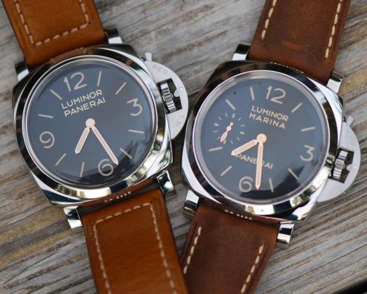 Panerai 372 on the left, 111 on the right