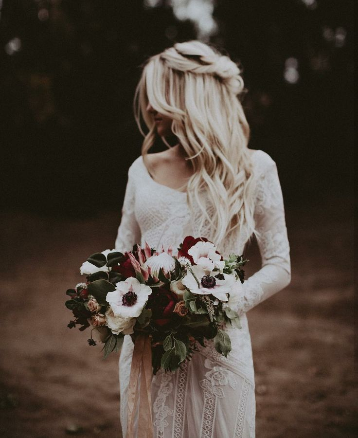 modest wedding dress with long sleeves from alta moda. -- (modest bridal gown) photo by Ty French