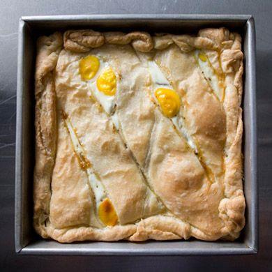Egg potatoes prociuto pie