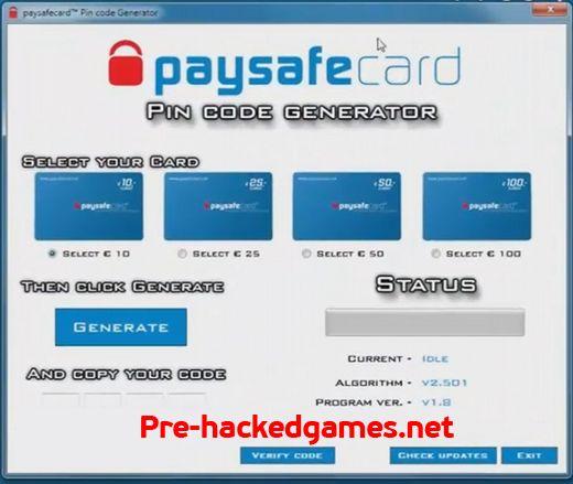 Free Paysafecard generator