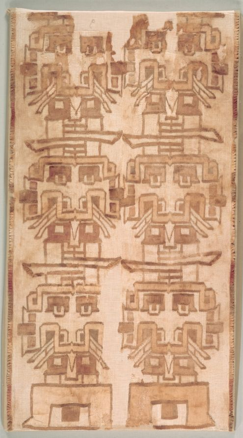 Two Textile Fragment. Chavin culture style, Ica Valley, Peru, 1000-200 BC. The Cleveland Museum of Art, Online Collection.