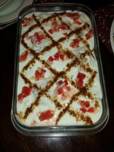 Dahi baray (fried dough balls in yogurt) yum