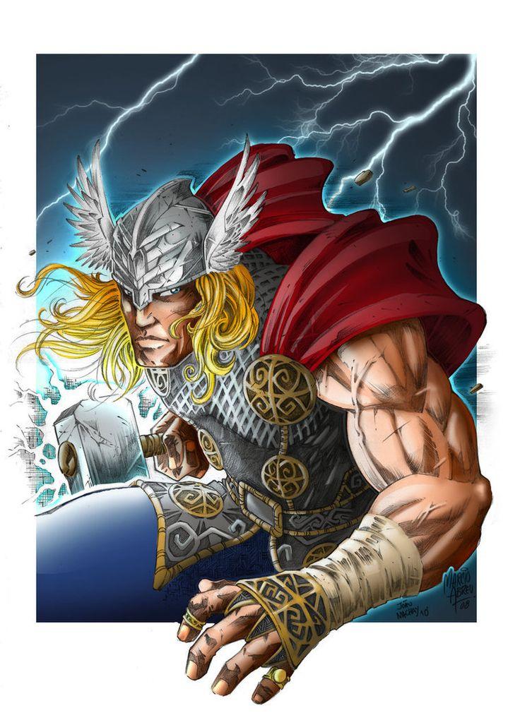 God of Thunder Color by joaoMachay on DeviantArt Art