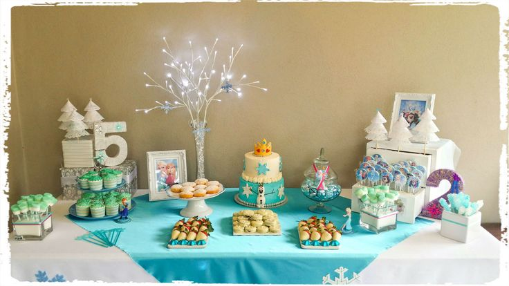 Frozen Birthday table all designed and decorated by K & G