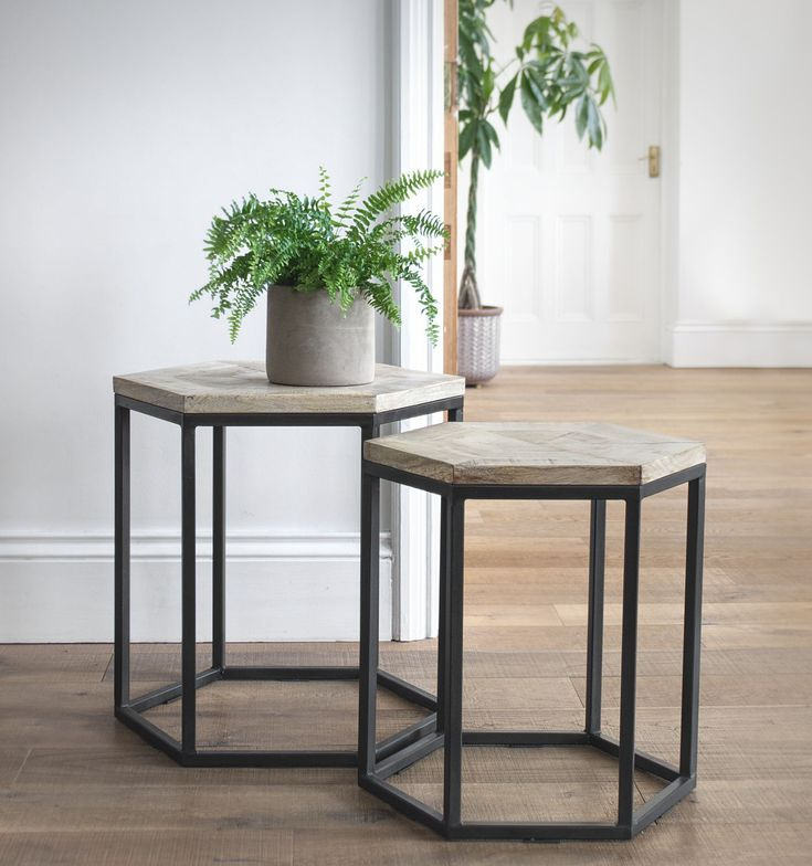 Nested Side Tables Hexagon Sides Side Table Living Room Decor Tips