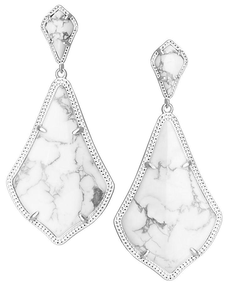 Alexis Earrings in White Howlite - Kendra Scott Jewelry. Coming July 15!