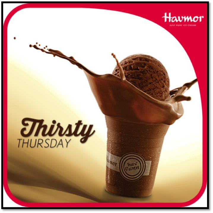 The creamy Chocolate Milkshake made from fresh milk Chocolate Ice cream will quench  your #ThirstyThursday.