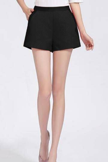 Black High Waist Shorts with Side Pockets - US$23.95 -YOINS