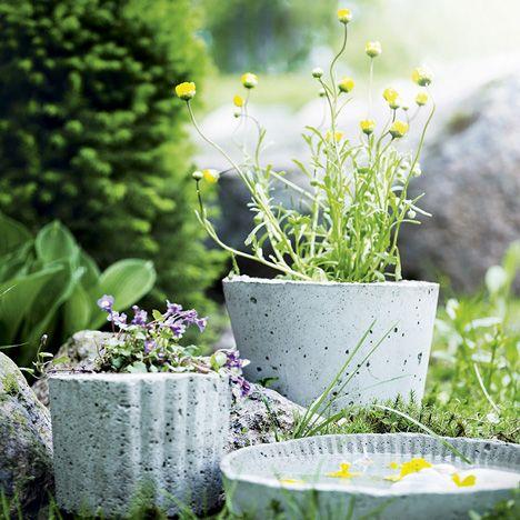 Tee itse kukkaruukku betonista - katso kuva ja ohje!
