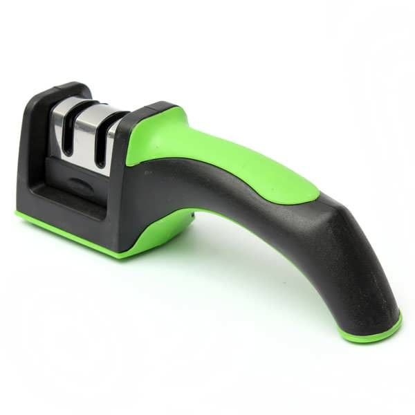 Description: Kitchen Knife Sharpener Sharpening Stone Household Knives Tool Modern Home Improvement Tool Comfortable handle design, will not be hurt,Non-slip base,stable. Replace it on the platform,then hold a stable non-slip handle, and other handheld knife Grind it by one direction, don't...