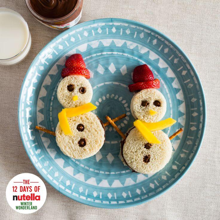 Snowman sandwiches