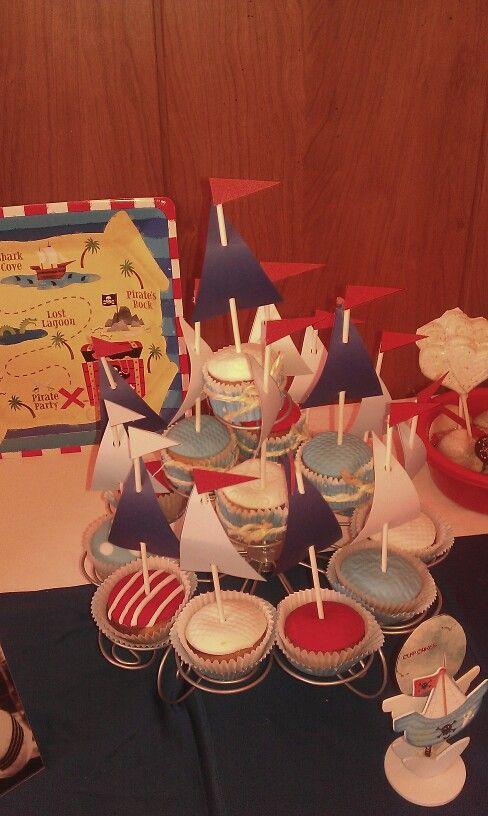 Cup cakes marineros