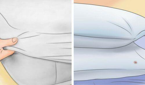 Как отбелить подушки и матрац