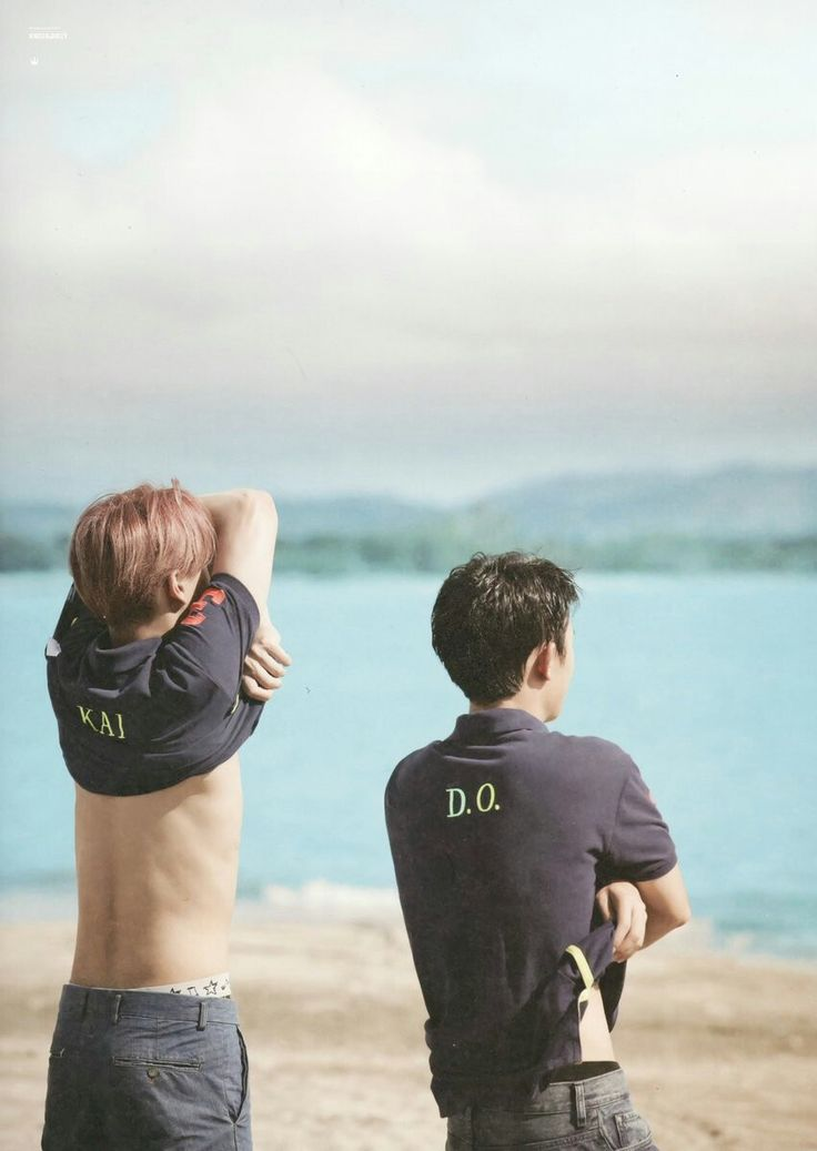 Oow. What are you doing KaiSo??   At EXO photobook dear happines