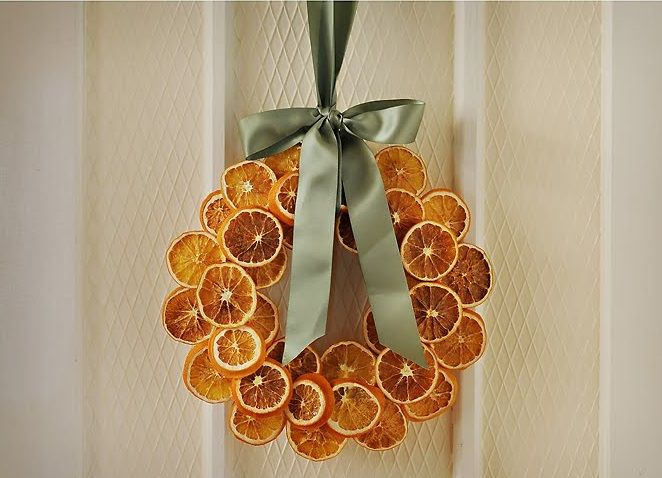 Dried Orange Thanksgiving Wreath