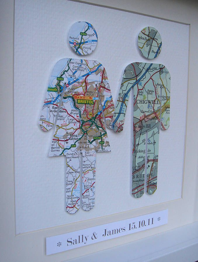 Hochzeit – Choose the city where each of you are from.and create a personalised couple map