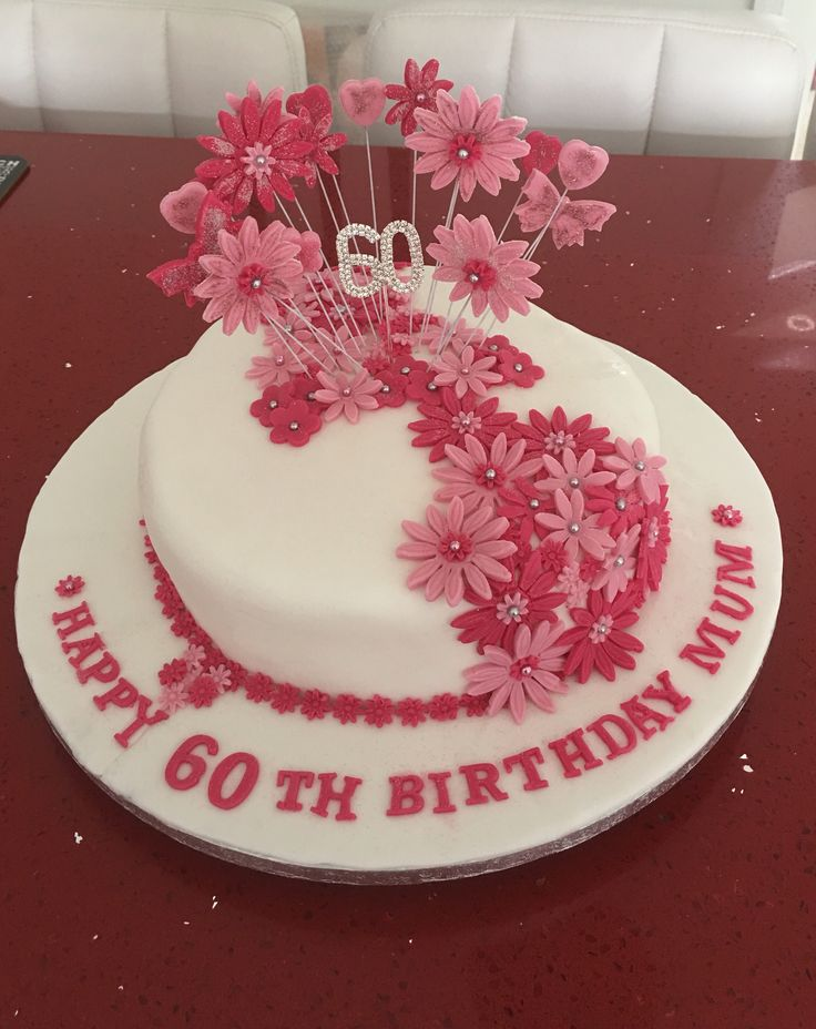 This is a cake I've made for my friends mums 60th birthday. Made my own topper using foundant. You need to allow it to set overnight if your not using gum paste. Hope you all like it