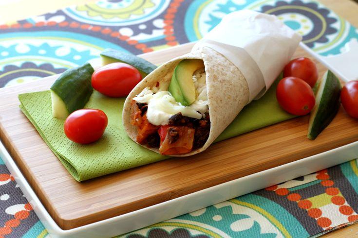 Burrito aux haricots noirs et patates douces