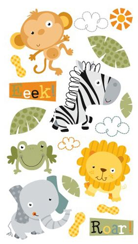 EK Success - Sticko Classic Collection - Stickers - Jungle Buddies at Scrapbook.com $1.42