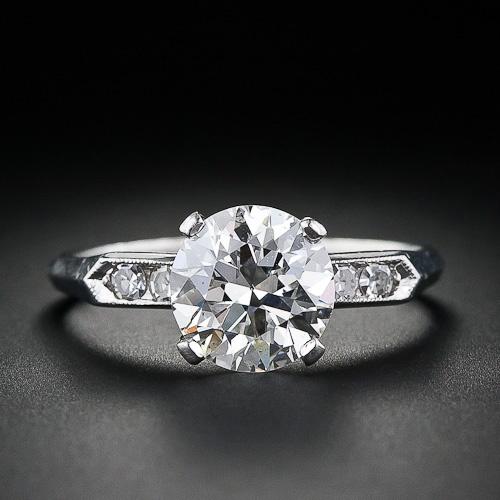 2.20 Carat Vintage Diamond Engagement Ring