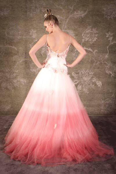 5829 best pretty in pink images on pinterest wedding for Pink ombre wedding dress