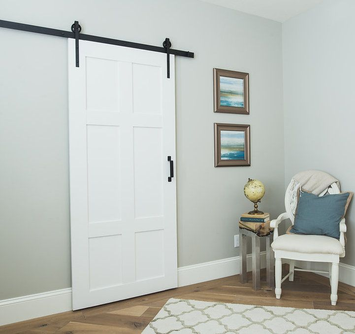 Our classic 6 panel sliding barn door is timeless built for Rustic sliding barn doors interior
