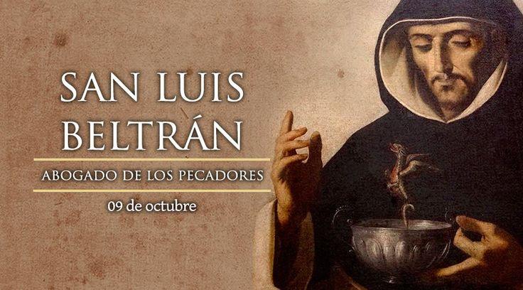 San Luis Beltrán, cuya fiesta se celebra cada 9 de octubre, fue misionero al norte de Colombia en la época colonial y logró la conversión de miles de indios. Hoy es Patrono de ese país.