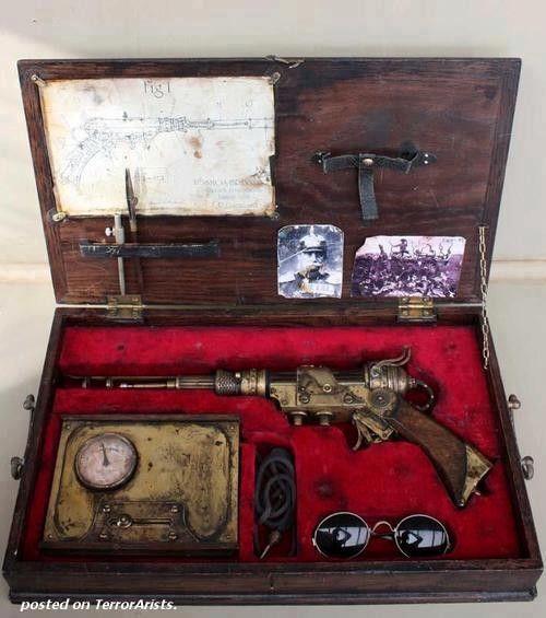 steampunk gun - just brilliant in it's own case.