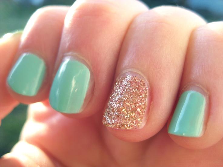 "Ginger and Liz ""Boy Toy"" nail polish with Martha Stewart fine glitter in bronze"