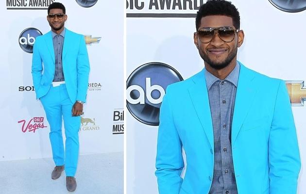 Celebrity Style Trend: The Blue Suit | Usher in Bottega Veneta