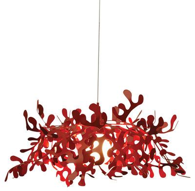 Suspension Leaves Ø 55 cm Rouge - Lumen Center Italia