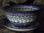 Polish Pottery Berry Bowl Direct from Ceramika Artystyczna, Boleslawiec, Poland Photo property of Peacock Pottery
