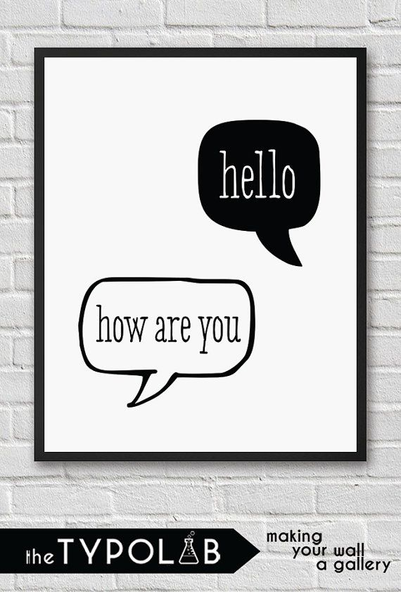 Hello How Are You / typography print poster / by theTypolab