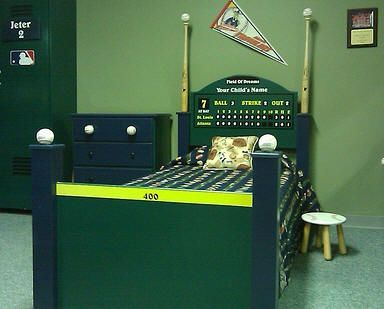 Custom Sofas And Beds   Poggys kids Baseball Bed and other custom furniture