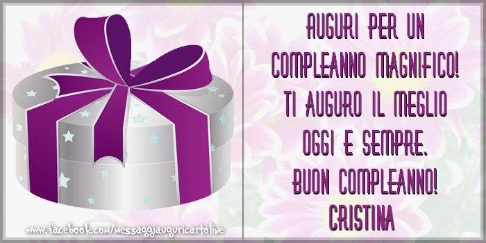 Buon Compleanno Cristina - Happy Birthday Cristina (Italian)