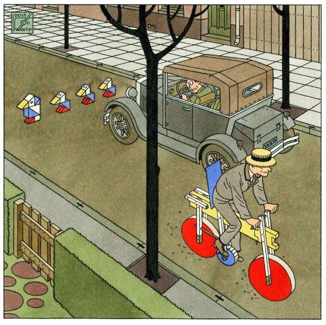 de fiets van rietveld...