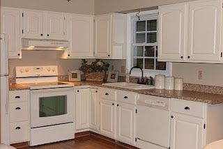 Kitchen Remodel - you could close off the glass block window and end up with something like this.