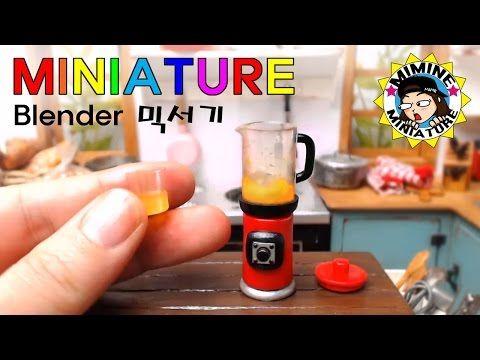 미니어쳐 진짜 갈리는 믹서기 만들기 (쥬스도 만들어요ㅋㅋ) Miniature - Real Blender /미미네미니어쳐 - YouTube