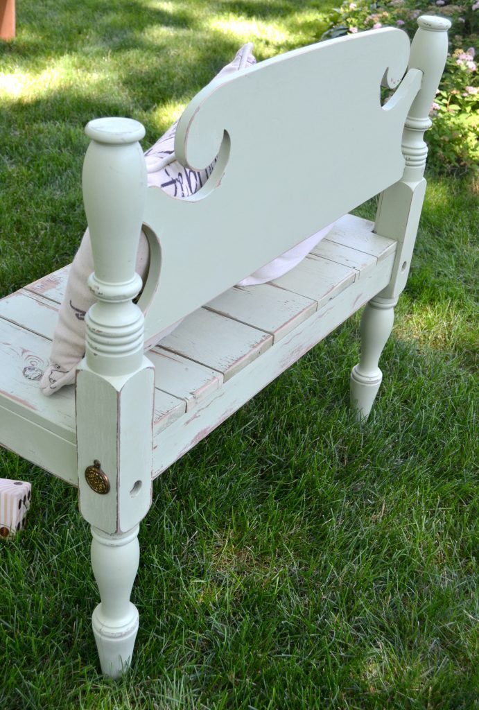 Repurposed Bed Frame Bench