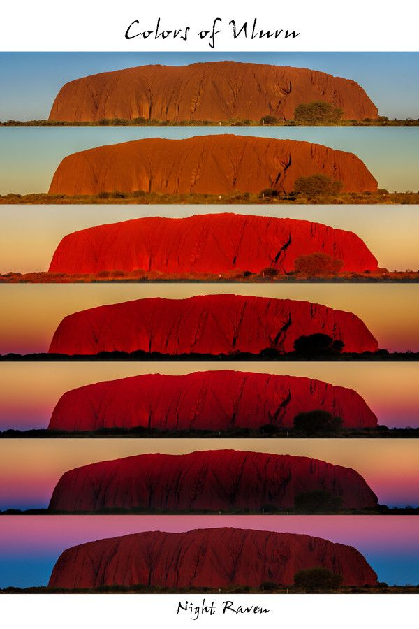 Colors Of Uluru By Night Raven On 500px Color Color