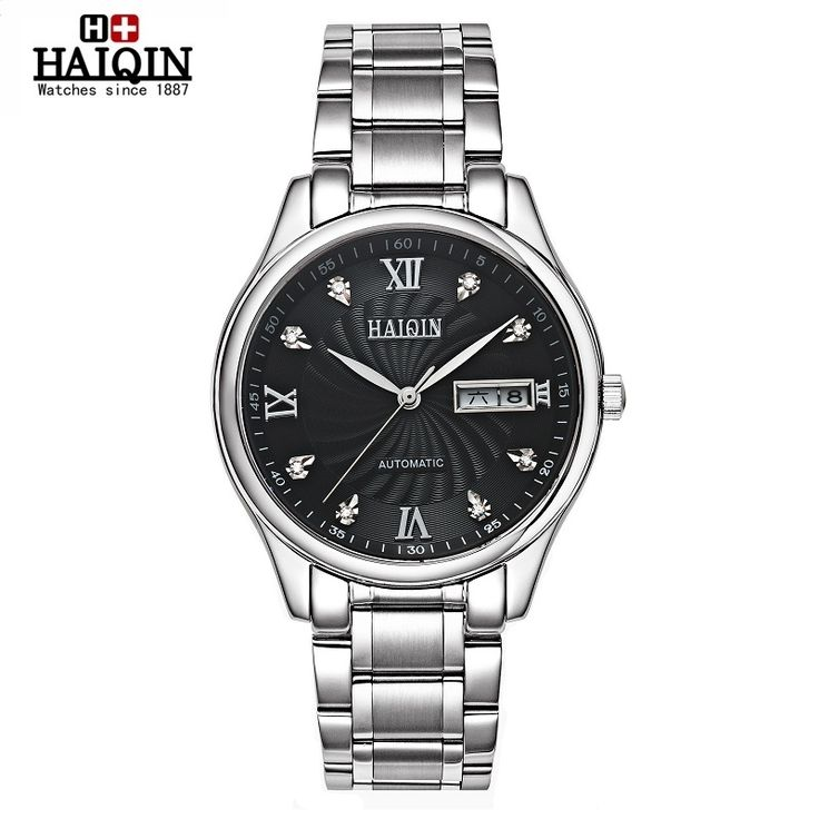 73.92$  Watch here - http://aipm6.worlditems.win/all/product.php?id=32786771536 - 2016 Luxury Brand HAIQIN Meccanici Automatic Orologi Da Uomo Impermeable Luminoso Orologio Simplicity Calendario Leather Orol