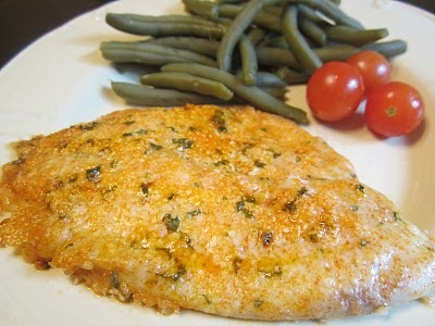 Rachel Ray's Parmesan crusted Tilapia